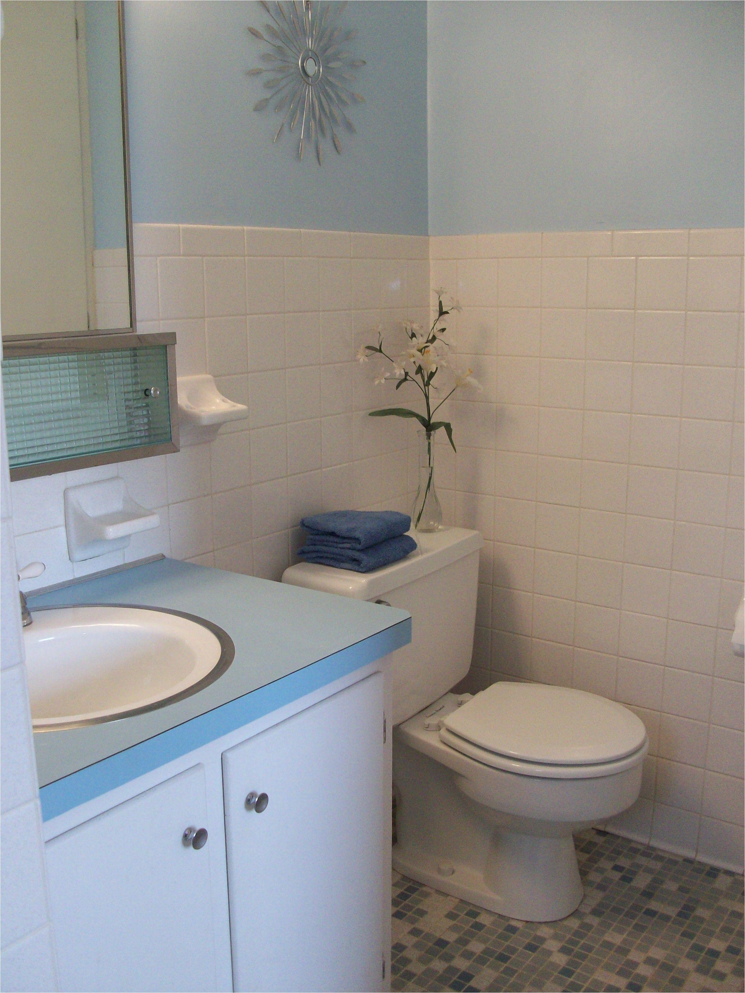 5×7 Bathroom Remodel Pictures Blue and White Retro Bathroom Vintage Bathroom In 2018