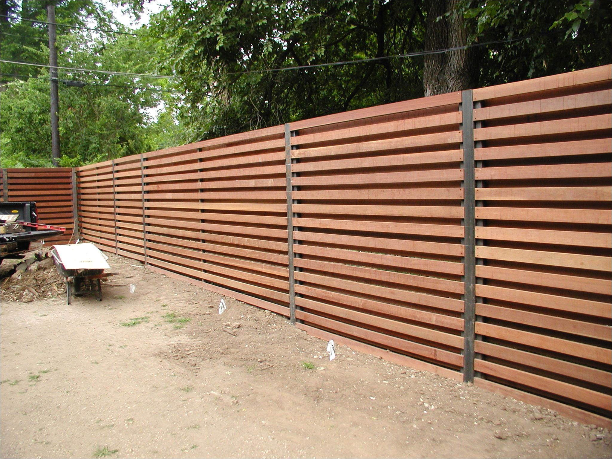 horizontal shadowbox fence google search