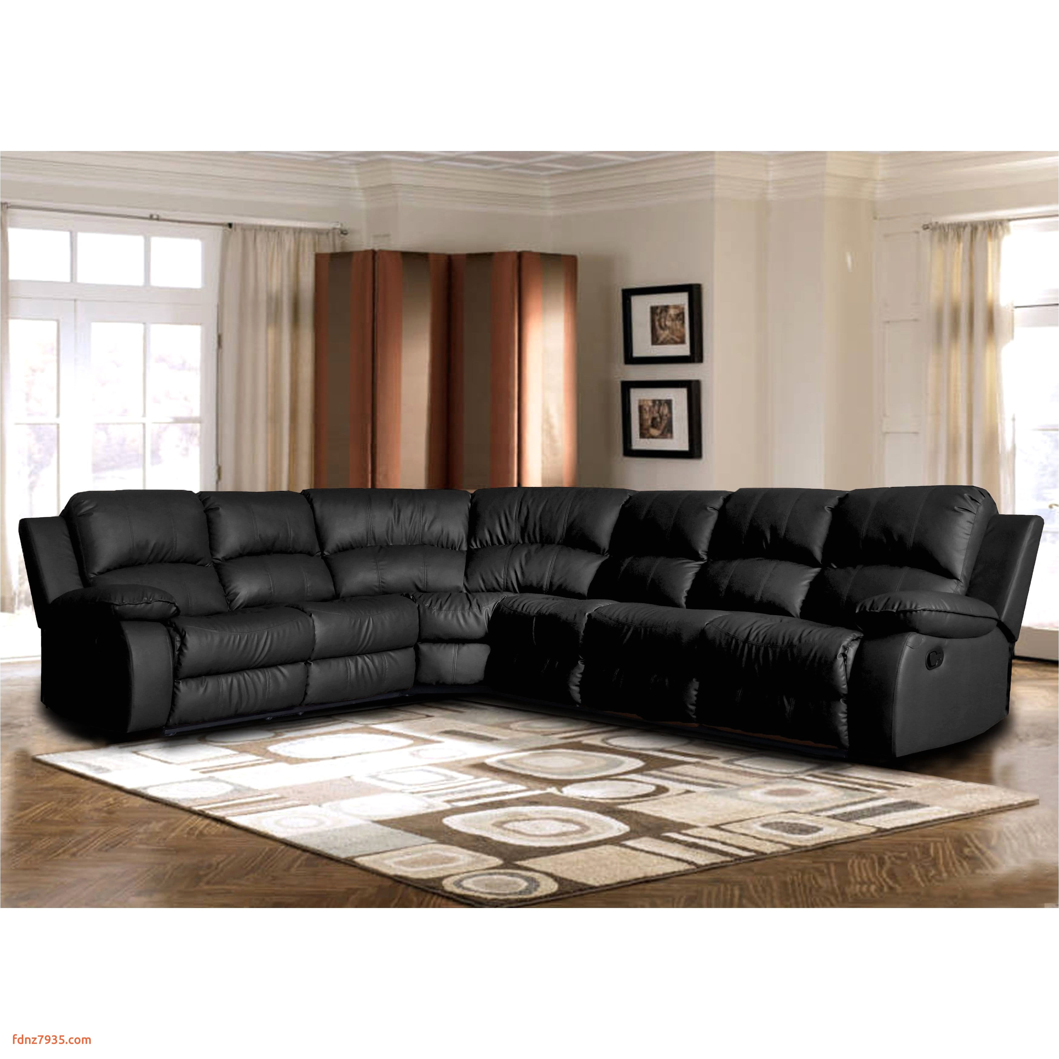 classic oversize and overstuffed corner bonded leather sectional with 2 reclining seats free shipping today overstock