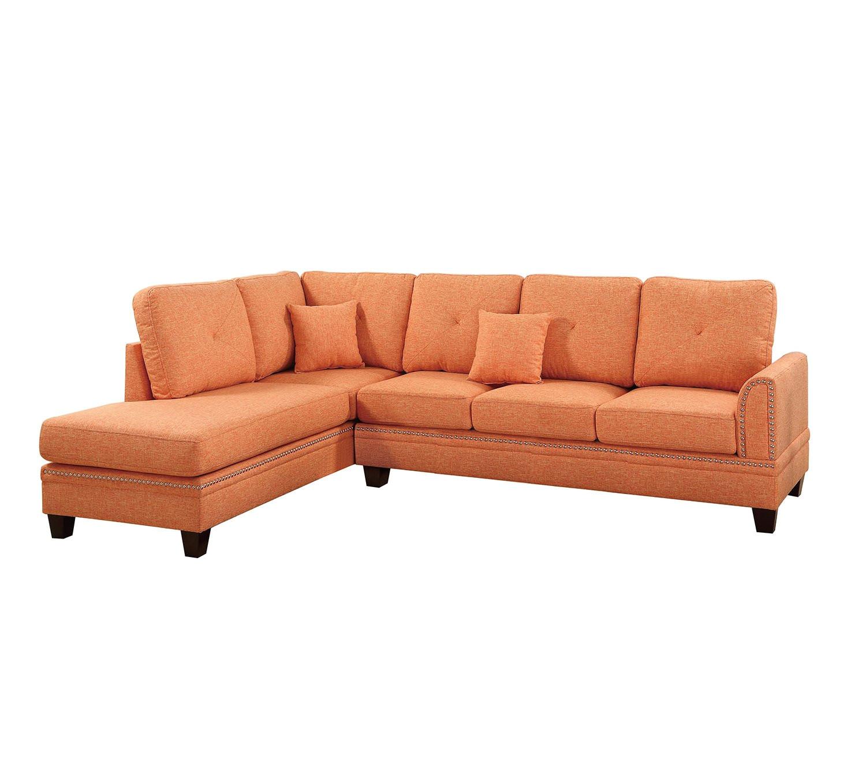 80 Inch Sectional Sofa Amazon Com Poundex F6514 Bobkona Bandele