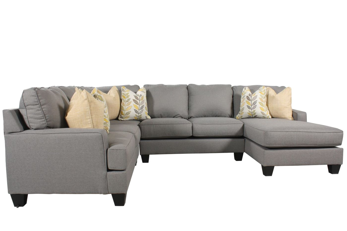 ashley 4 piece sectional mathis brothers furniture