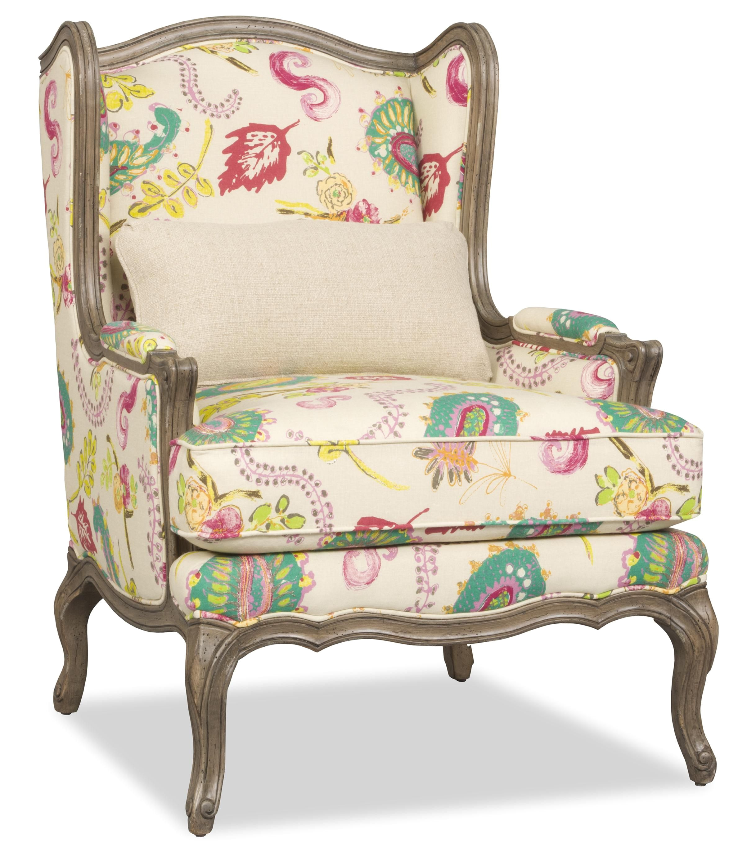 Accent Chairs Under 100 Dollars Kelsea Traditional Exposed Wood Wing Chair by Sam Moore Small