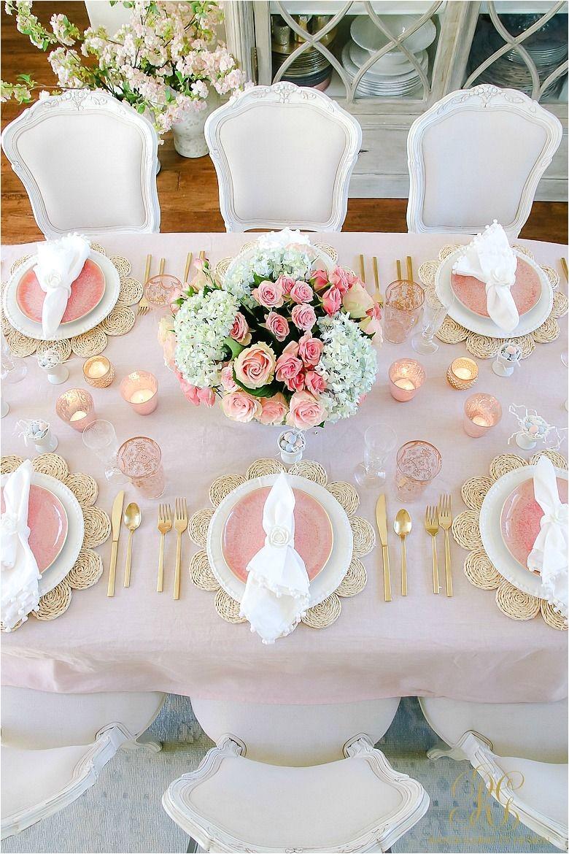 mesa de decoracion de compromiso blush table for easter or spring easter pinterest