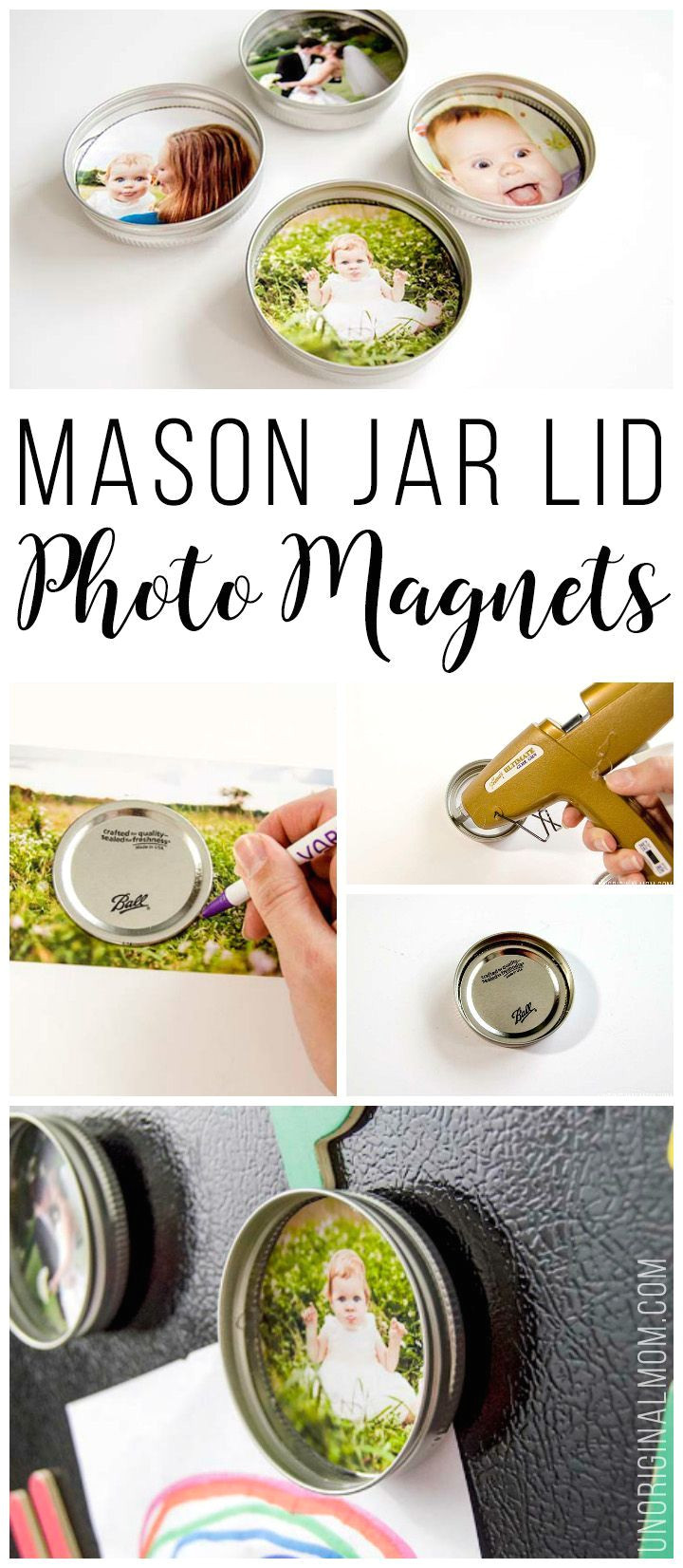 upcycle your leftover mason jar lids with these super cute mason jar lid photo