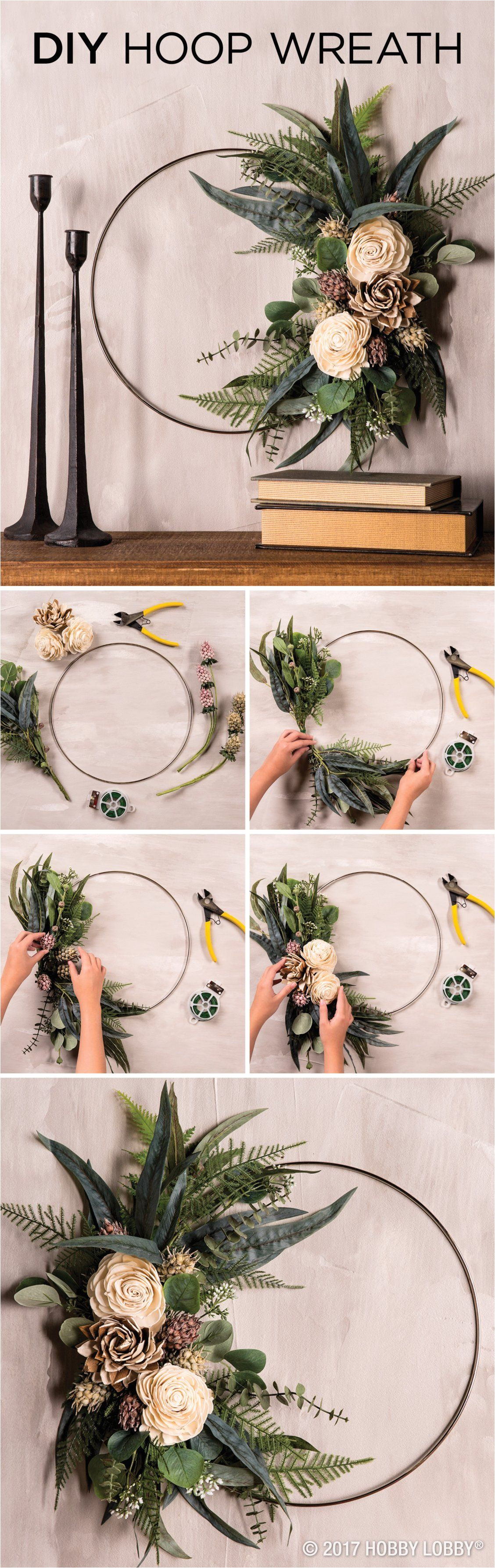 Advent Wreath Kits Hobby Lobby Elevate Any Space with An Elegant Diy Hoop Wreath to Diy 1 Clip
