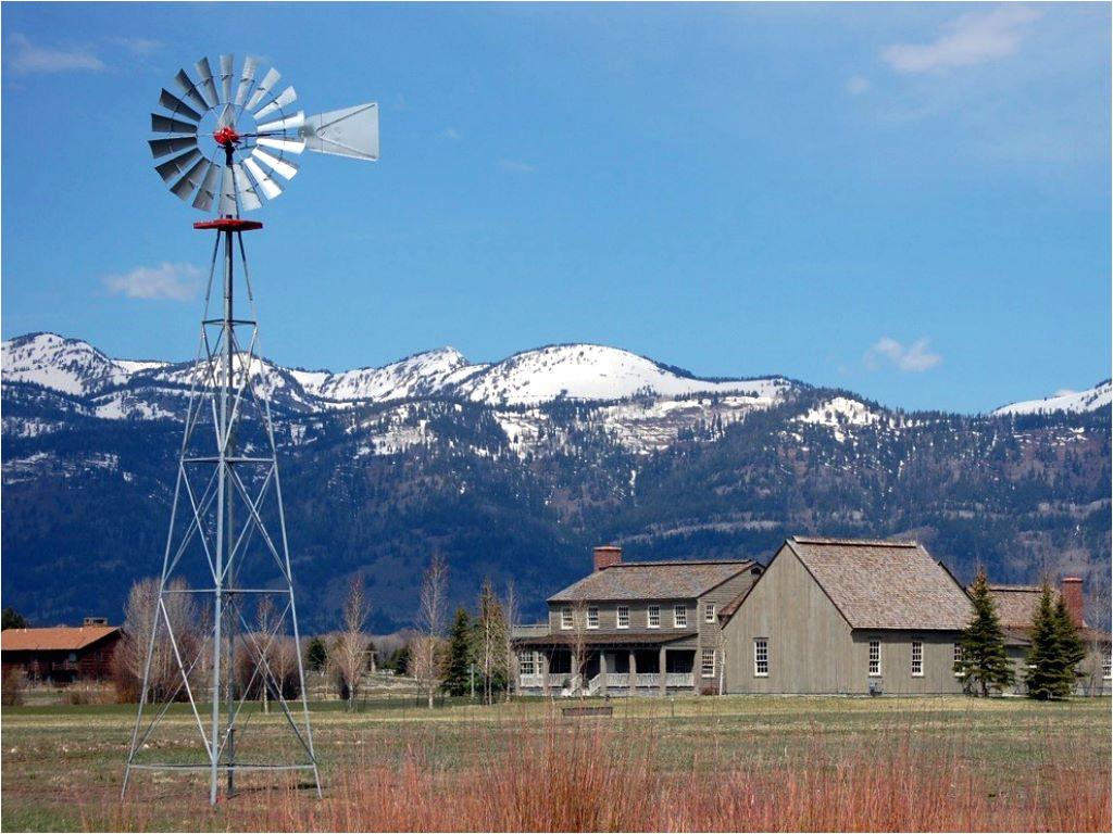 new farm windmill on tower