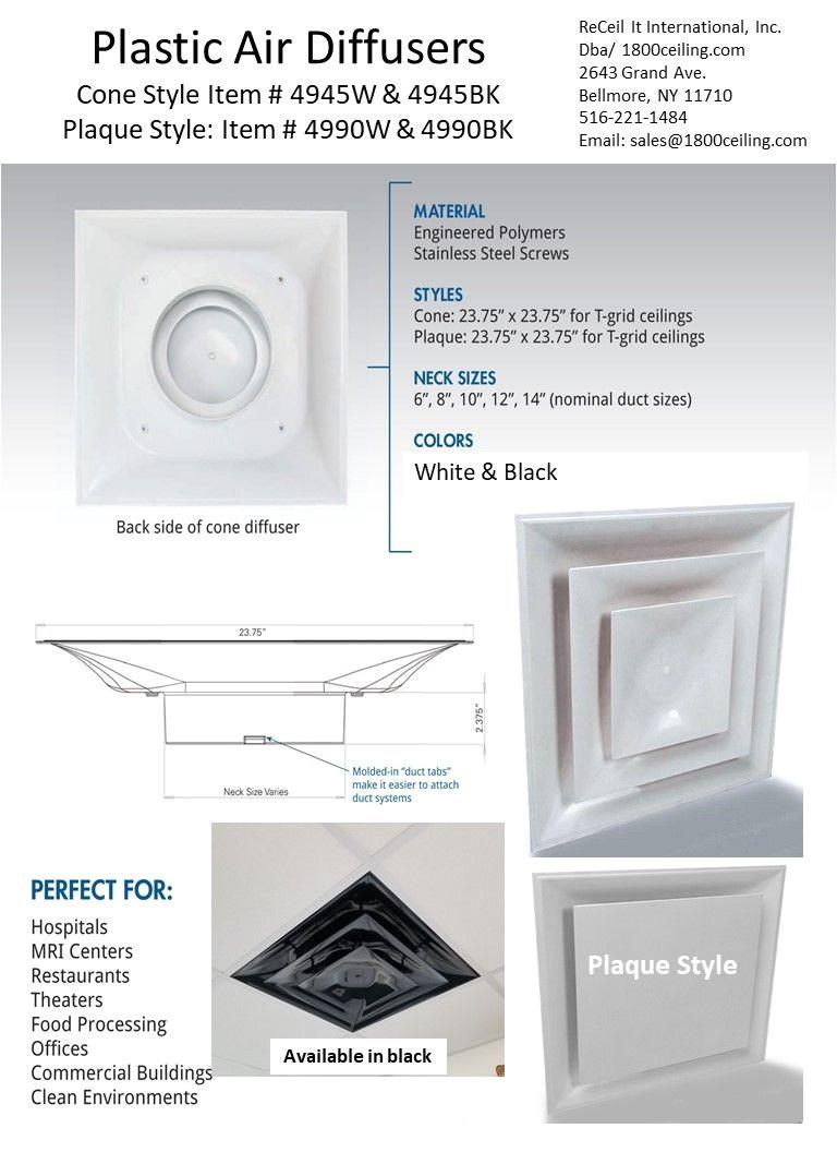 Air Vent Deflector Ceiling Commercial Plastic Air Vent White Plastic Vent Ceiling Diffuser Plastic