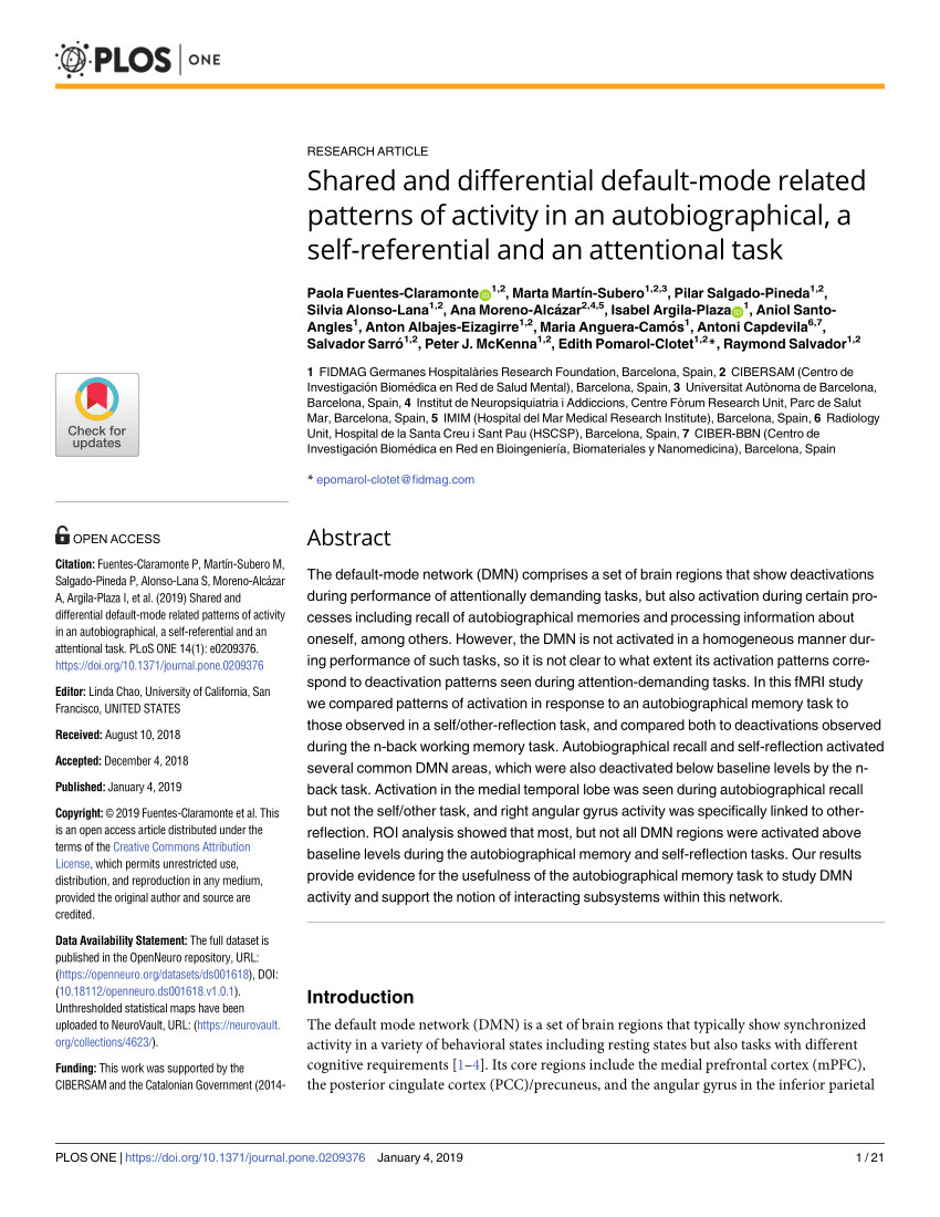 pdf the default network and self generated thought component processes dynamic control and clinical relevance
