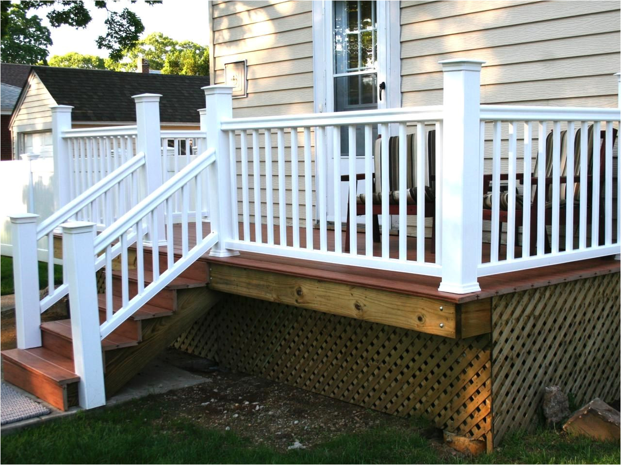 how to build a simple deck outdoor spaces patio ideas decks gardens hgtv