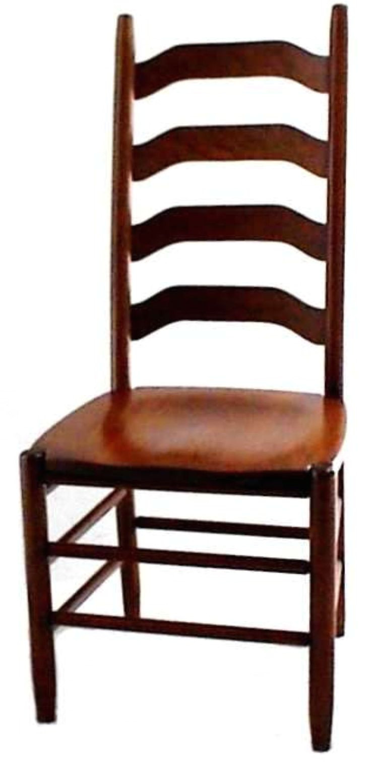 amish ohio four step shaker ladderback chair