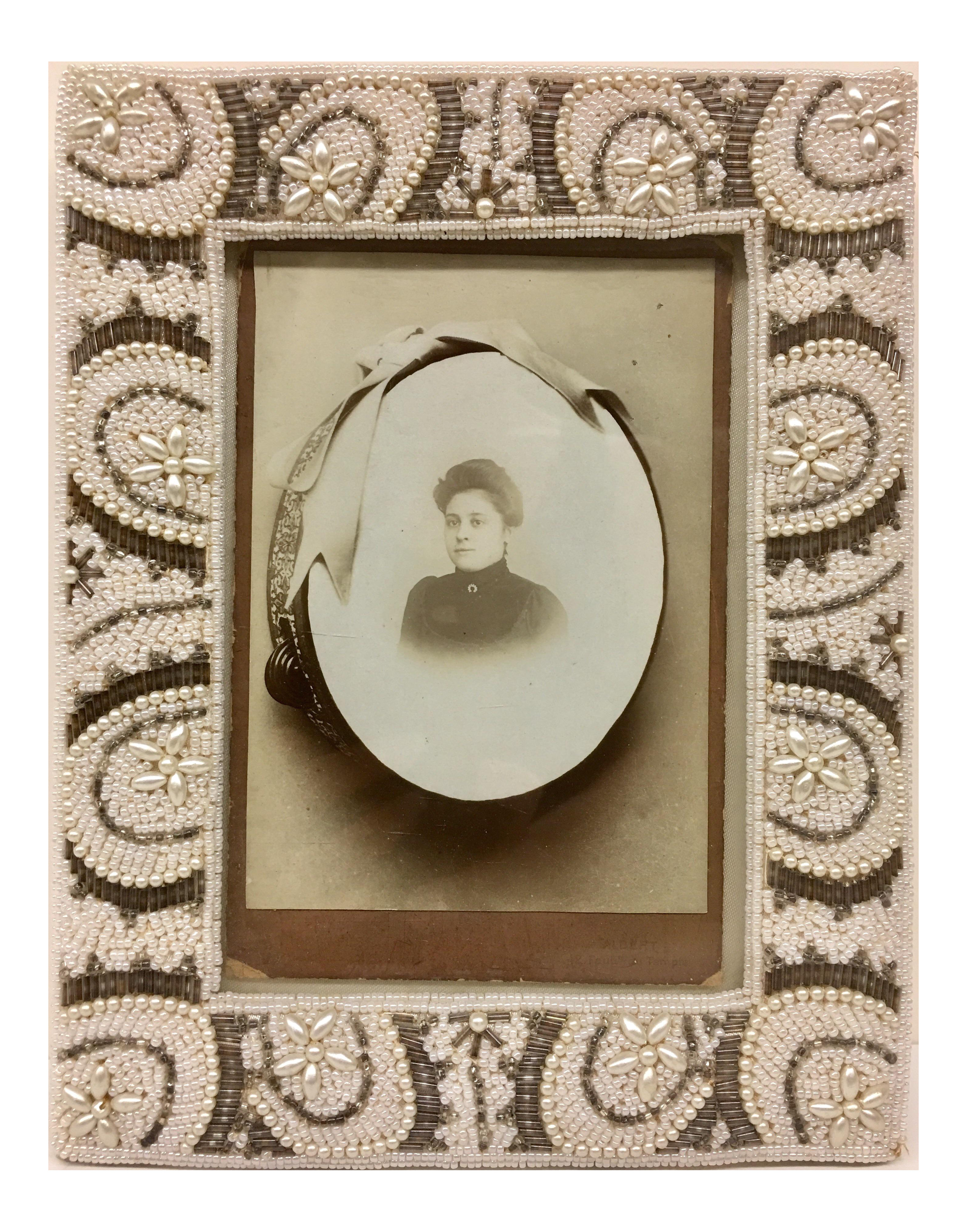 antique victorian portrait framed photo 7784