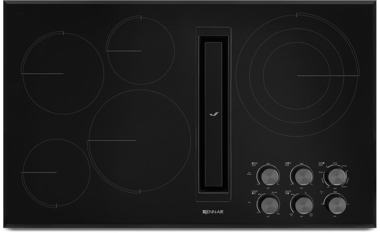 jenn aira 36 electric downdraft cooktop black jed3536gb