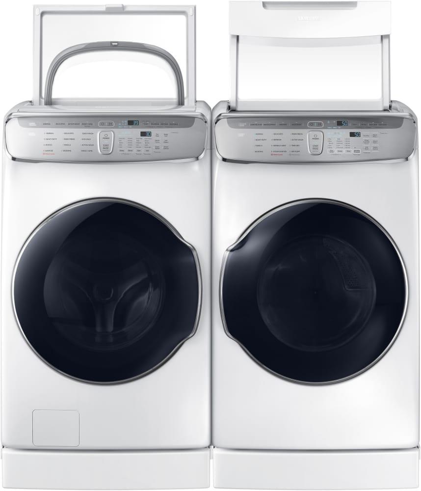 samsung flexdrya gas dryer white dvg60m9900w