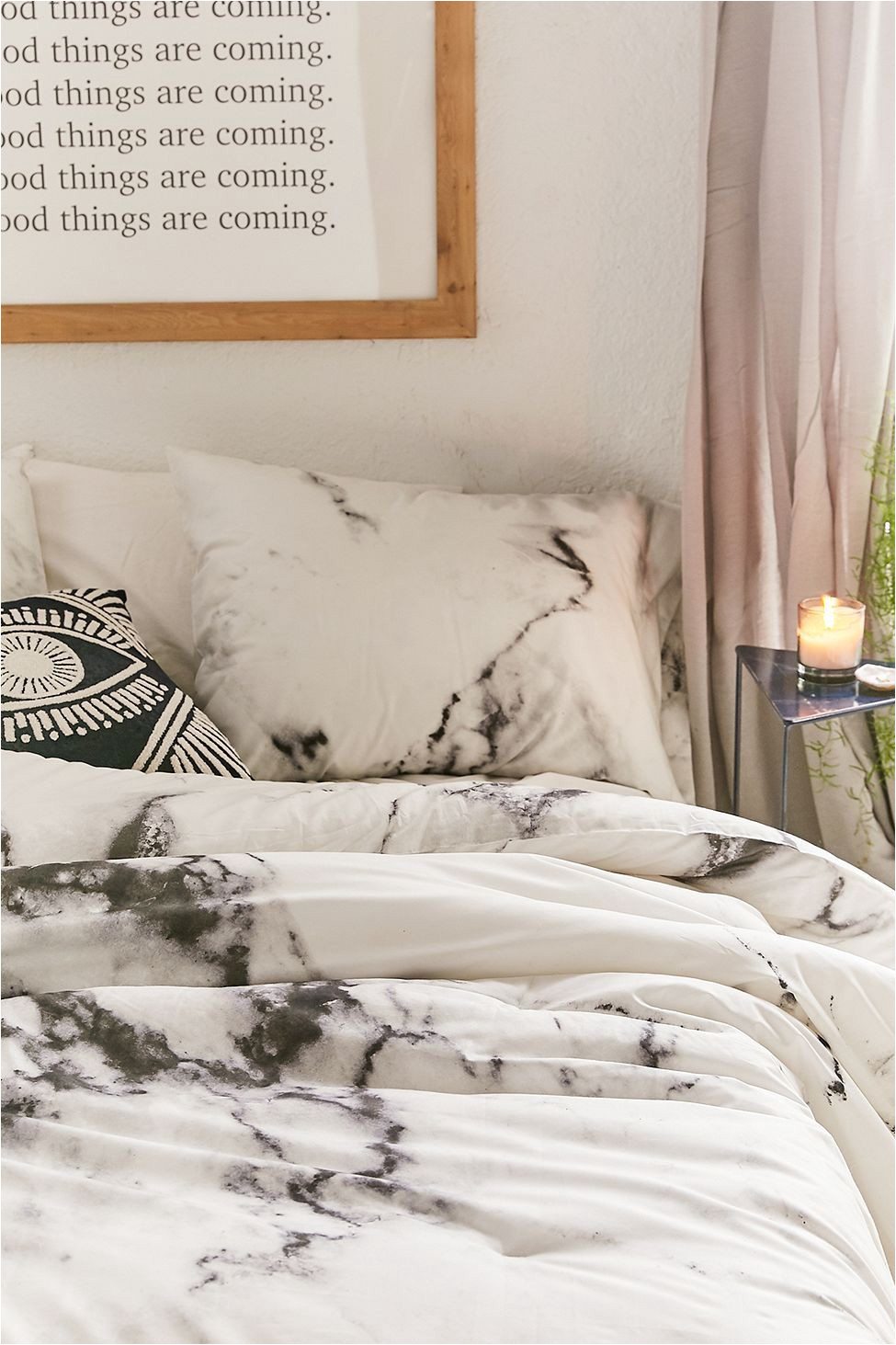 urban outfitters marble comforter snooze set white twin xl