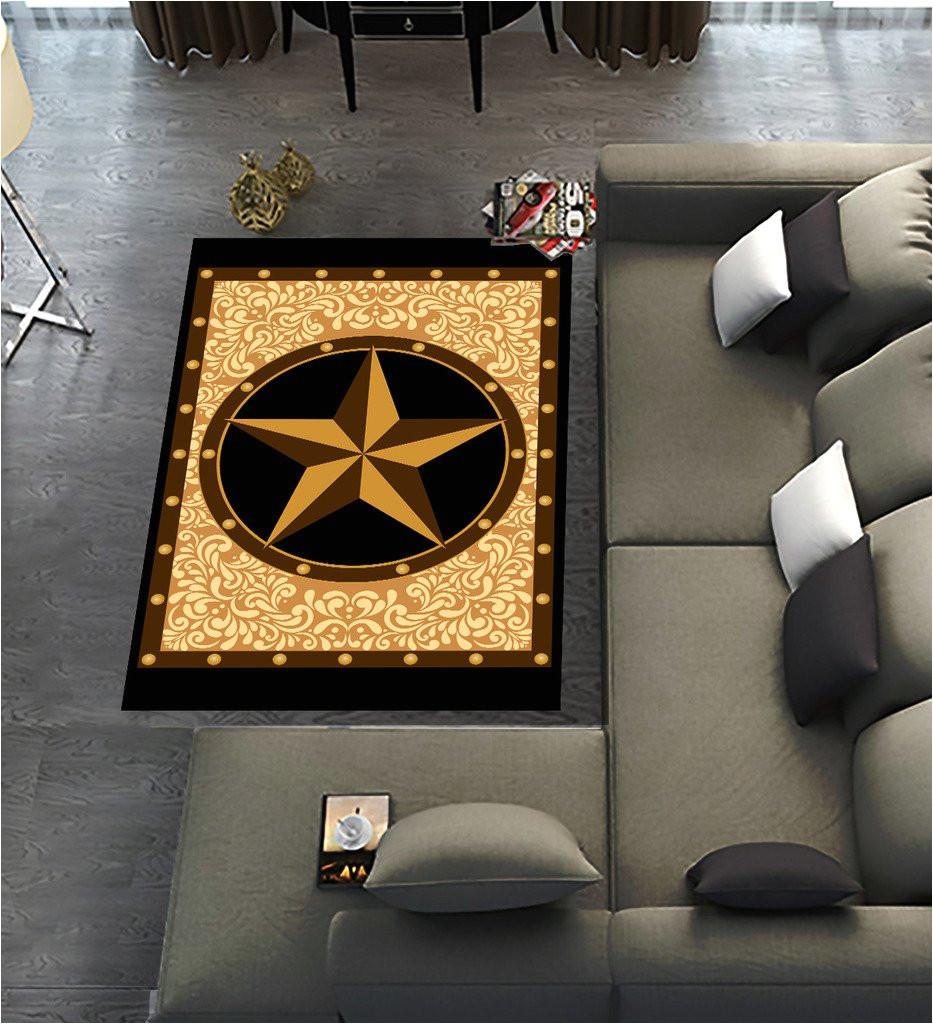 amazon com custom texas star area rugs carpet texas star modern carpet floor rugs mat for home living dining room playroom decoration size 10 x3 3