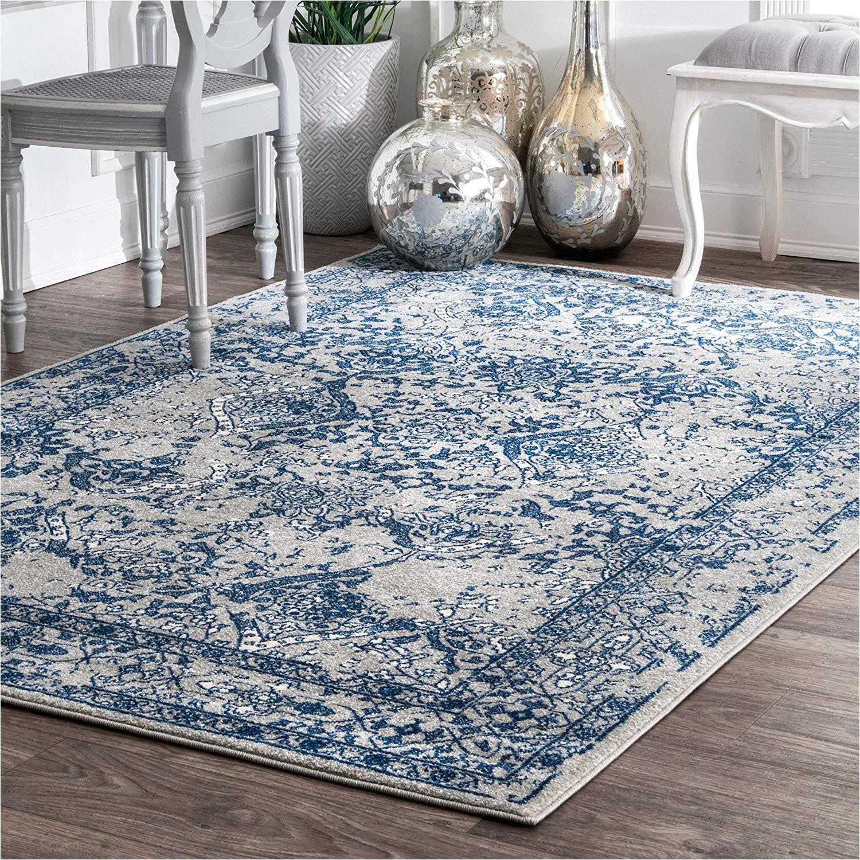 amazon com nuloom rzbd21b vintage odell rug 6 7 x 9 light blue kitchen dining