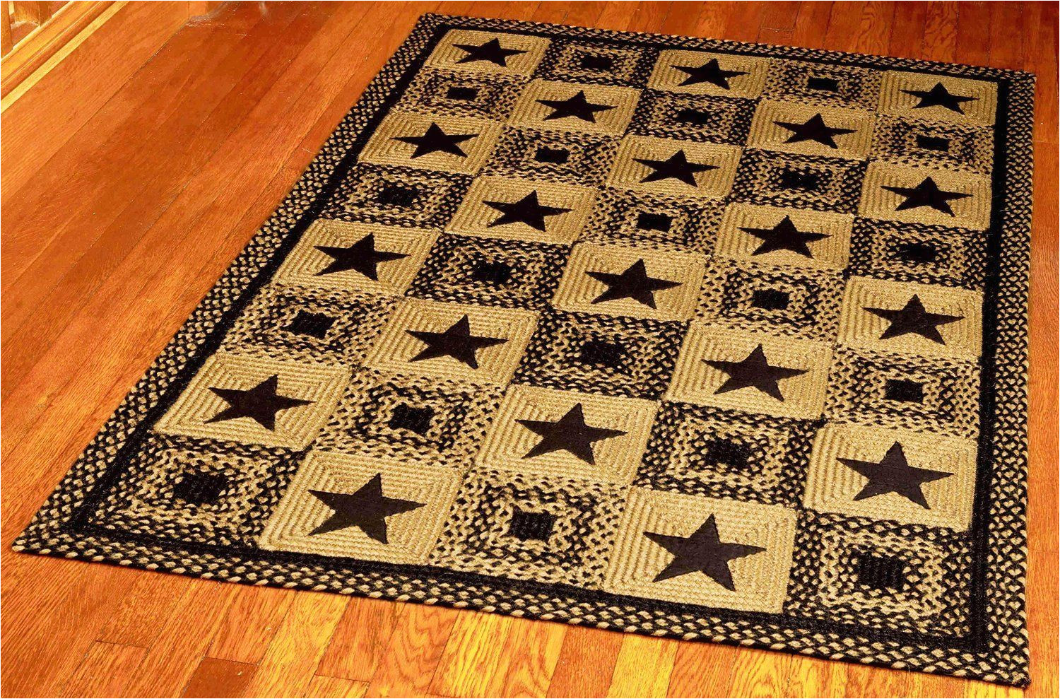 ihf home decor rectangle area accent braided jute rug 5 x 8 country star black design new you can find more details by visiting the image link