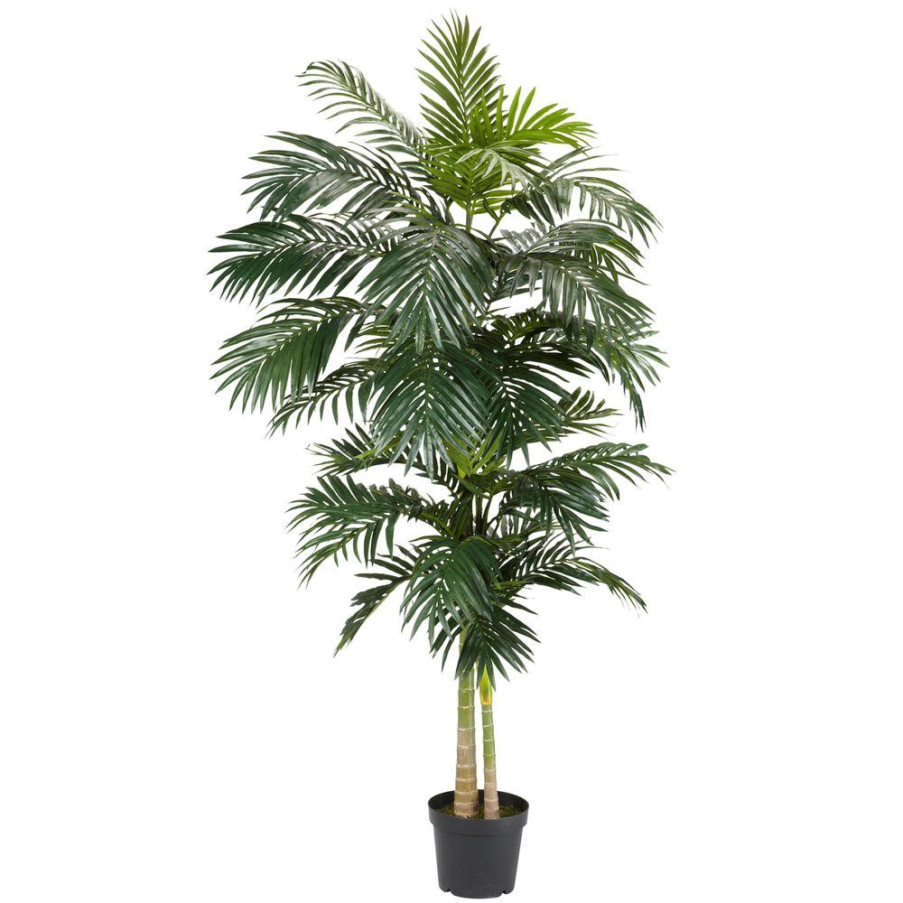 Artificial Palm Trees for Sale Near Me Nearly Natural 8 Ft Green Golden Cane Palm Silk Tree 5326 the