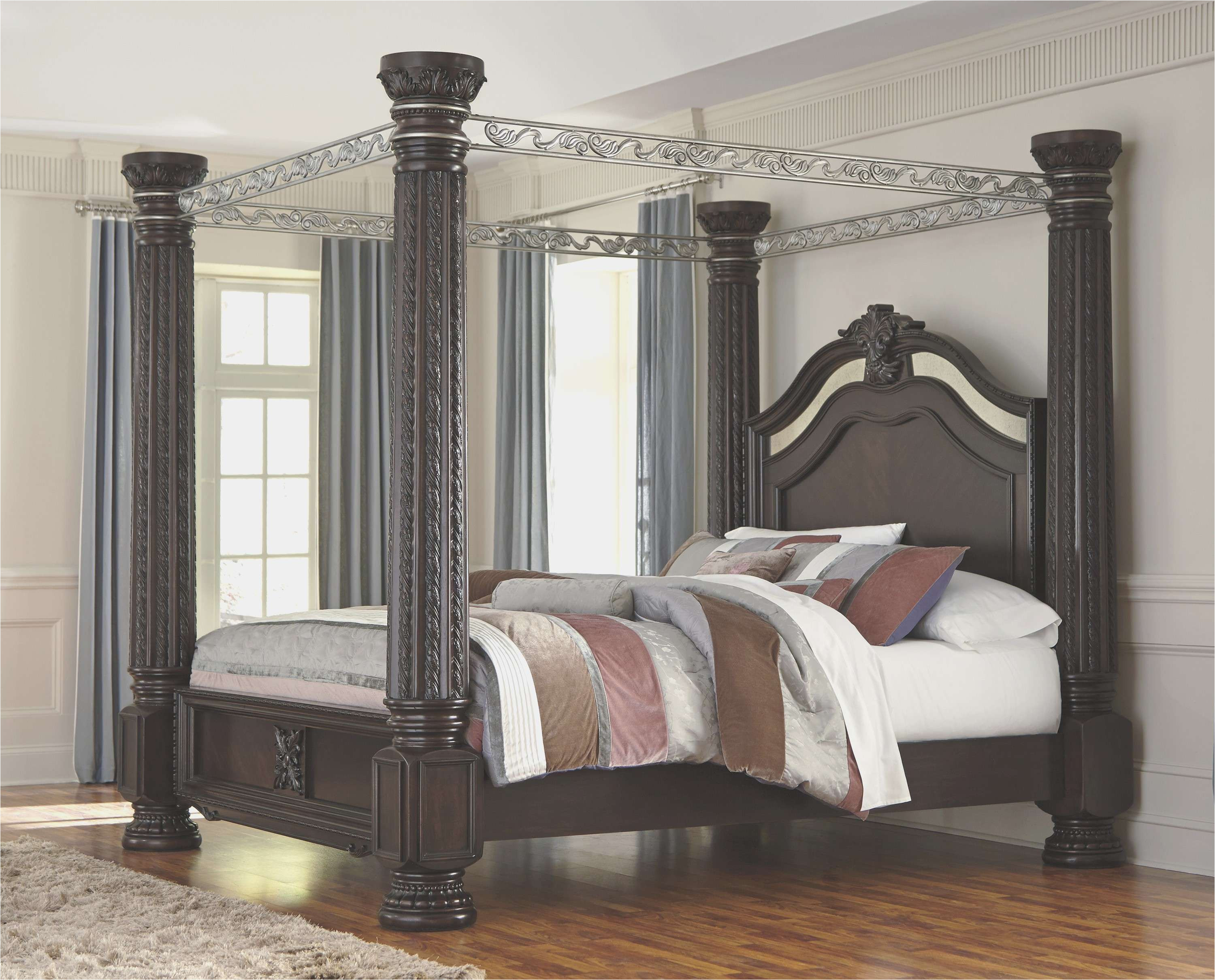 catchy granite top bedroom furniture in ashley furniture four poster bed