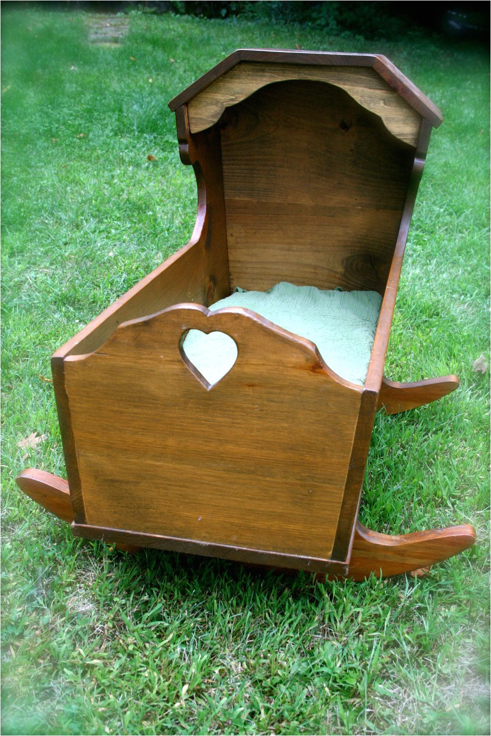 vintage handmade wooden cradle bassinet my brother made this exact cradle for my daughter