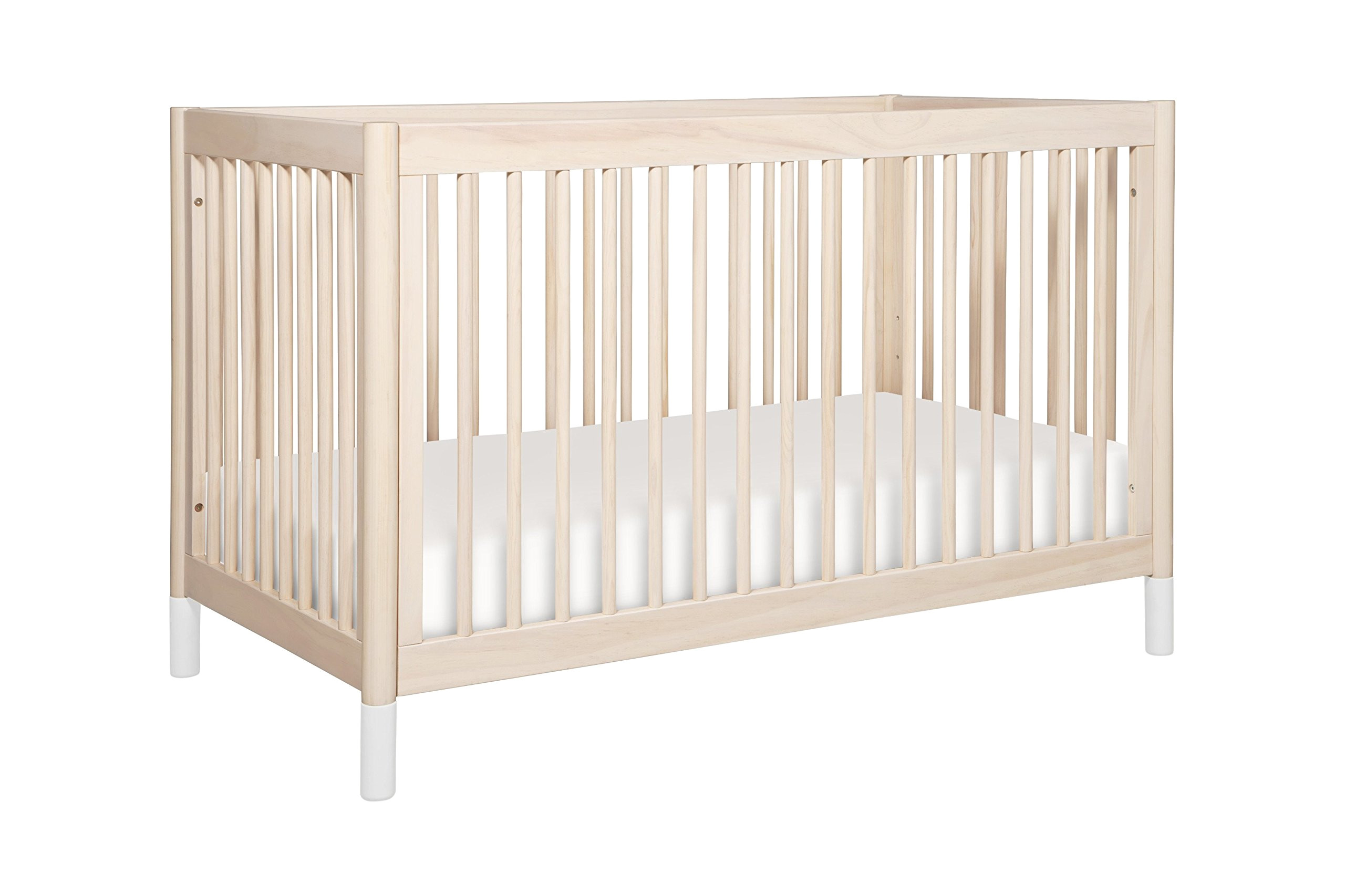 babyletto gelato 4 in 1 convertible crib with toddler bed conversion kit washed
