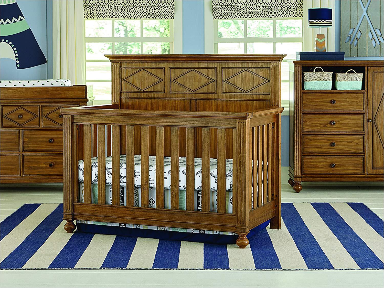 amazon com bassett baby kids 4 in 1 convertible crib rustic brownstone baby