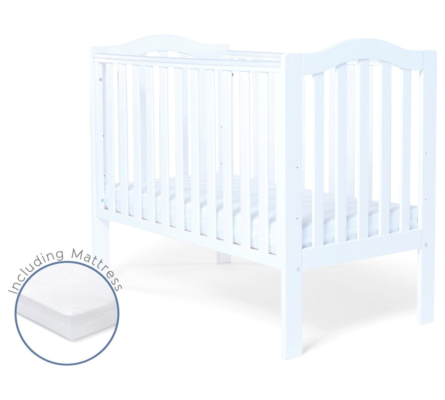 buy baby elegance sarah cot and mattress white cots cribs and cot beds