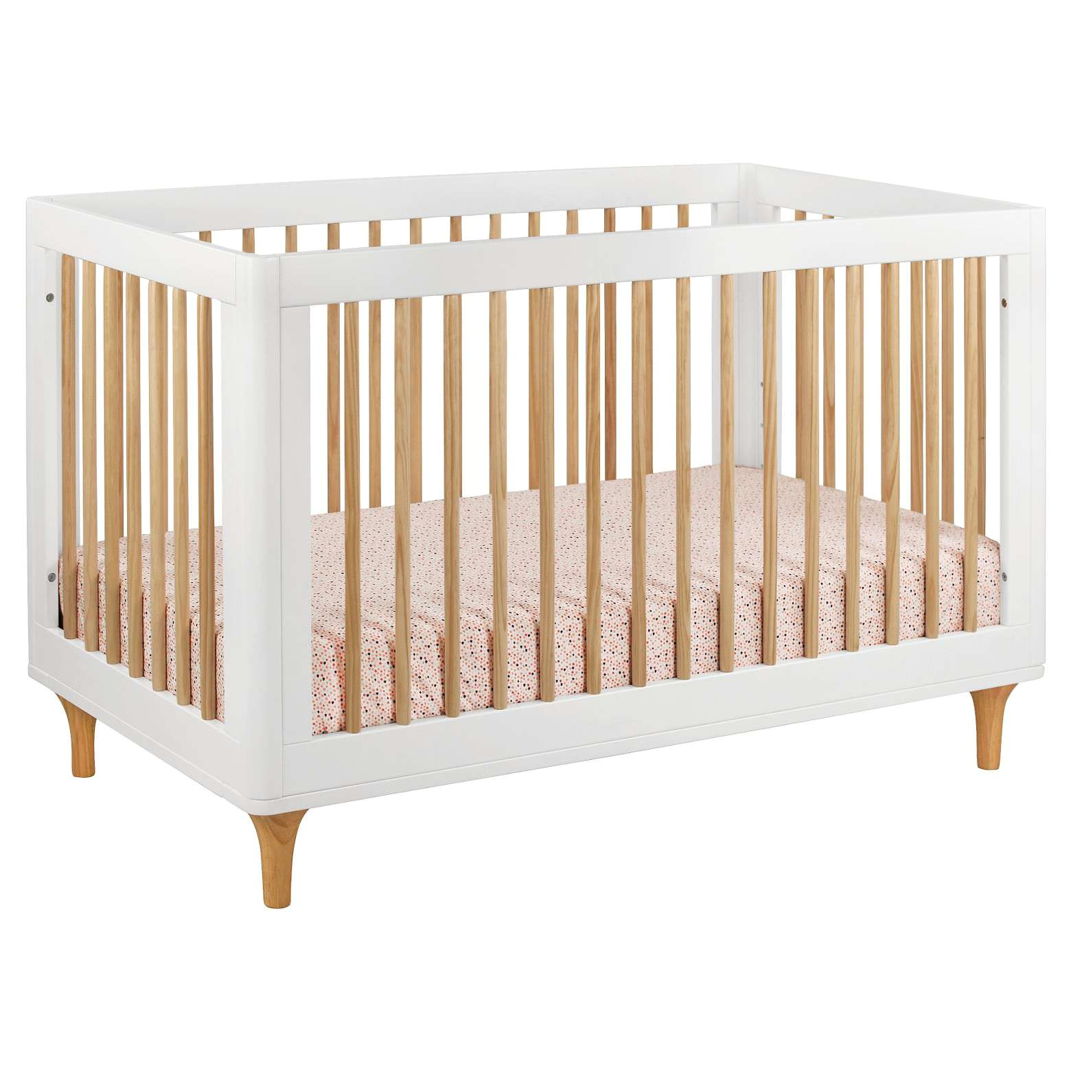 babyletto lolly 3 in 1 convertible crib with toddler rail