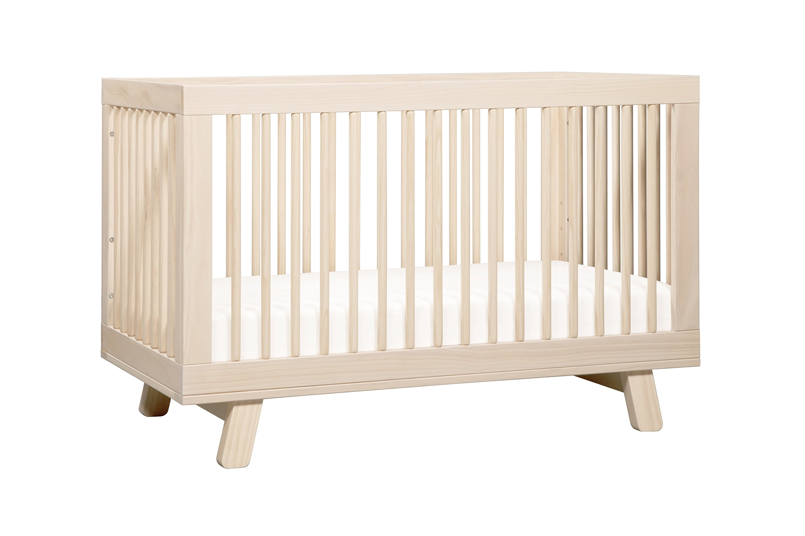 babyletto hudson 3 in 1 convertible crib with toddler bed conversion kit washed