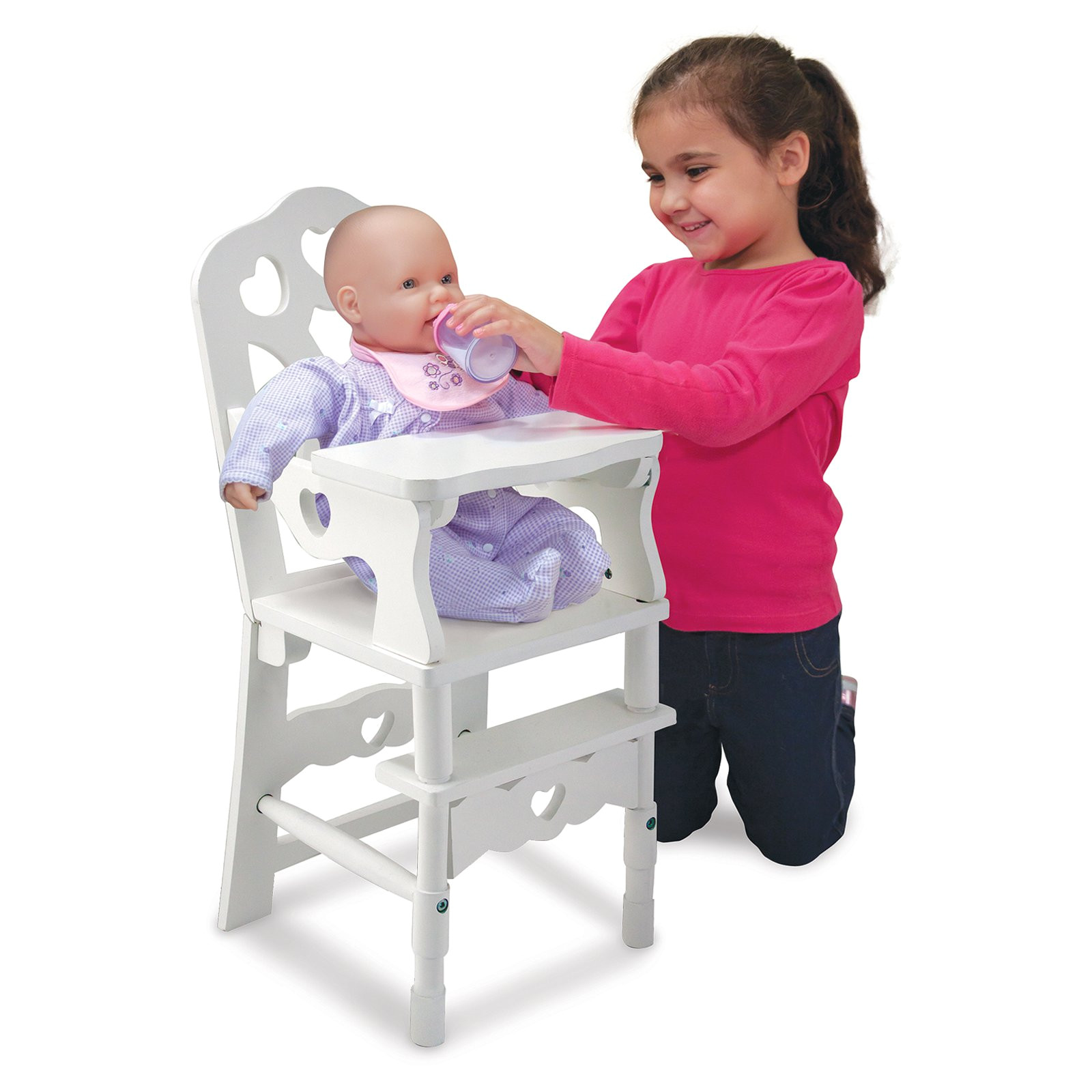 Baby Doll High Chair Walmart Melissa and Doug Wooden Doll High Chair Hayneedle