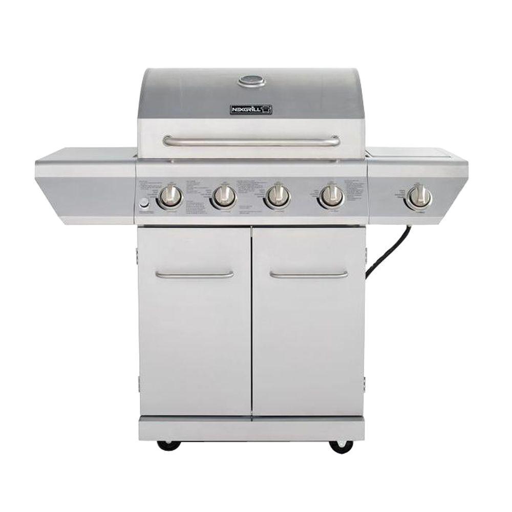 4 burner propane gas grill