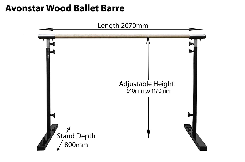 avonstar classics range ballet barre freestanding fully adjustable 50mm wood amazon co uk sports outdoors