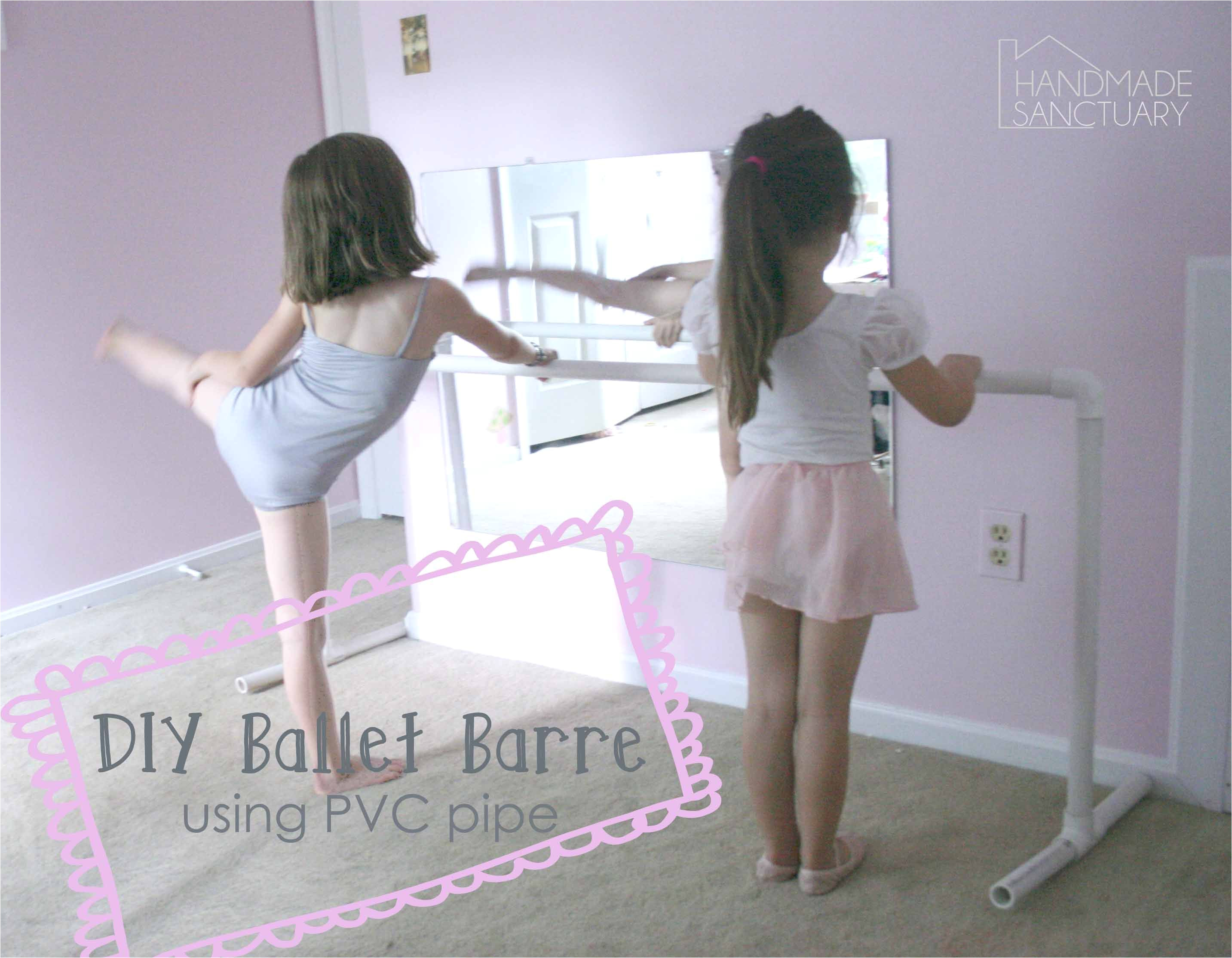 diy ballet barre using pvc pipe for around 10
