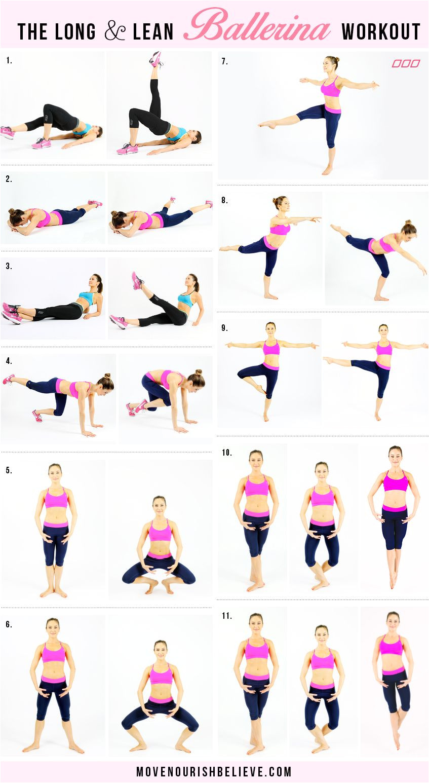 say hello to lean legs toned arms elegant curves and a strong core try this ballerina workout by top fitness trainer christine bullock