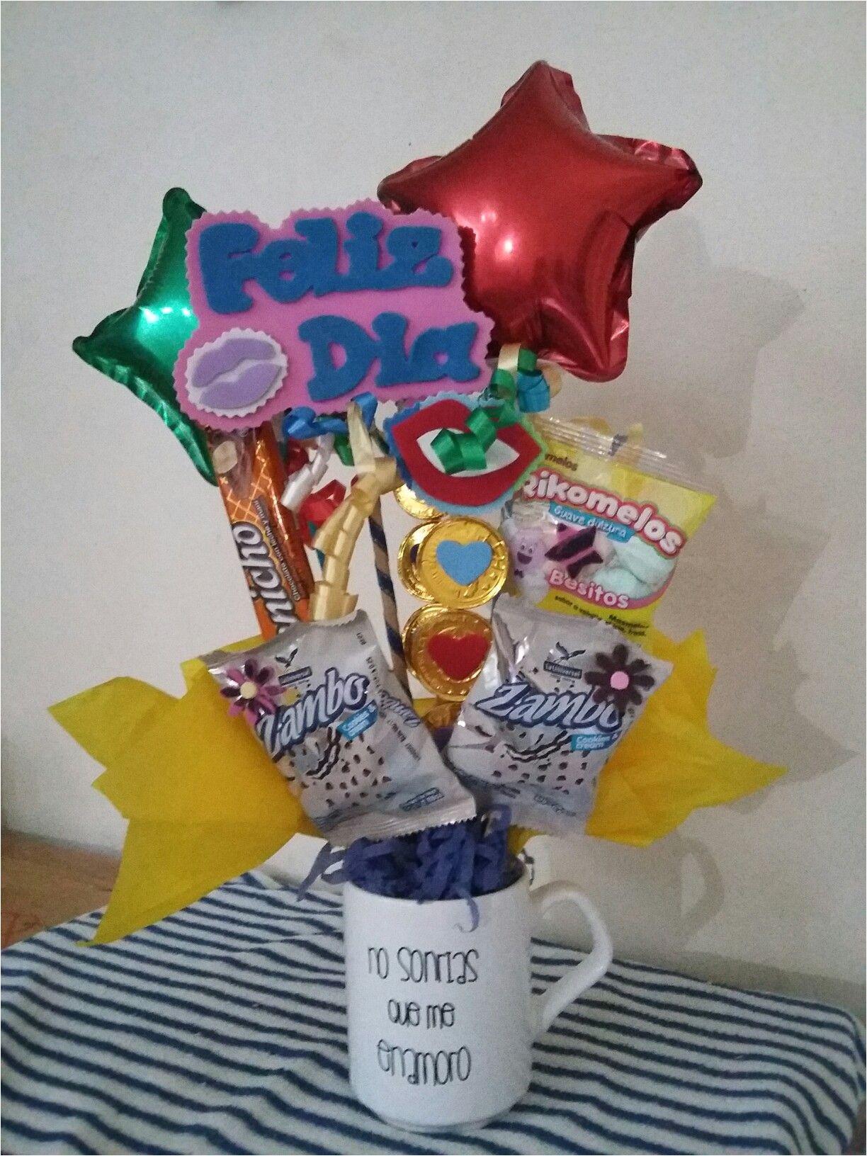 arreglos con dulces para aniversario o san valentin
