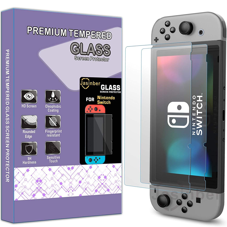 jasinber mica de vidrio cristal templado para nintendo switch
