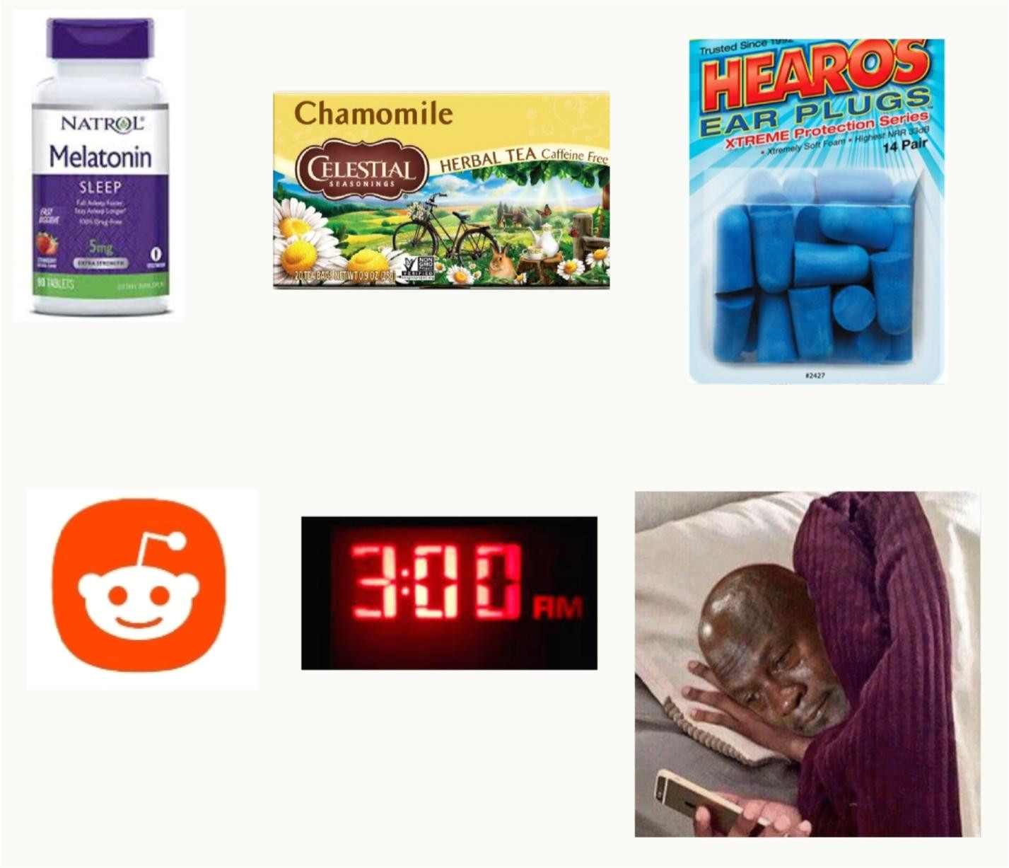 the i m definitely going to bed early starter pack