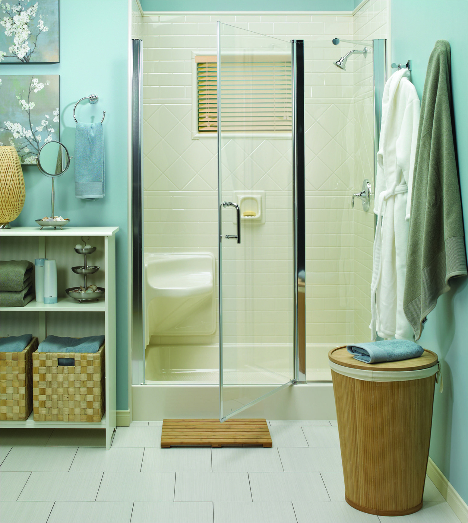 a bath fitter shower glass door can give your bathroom such a clean look