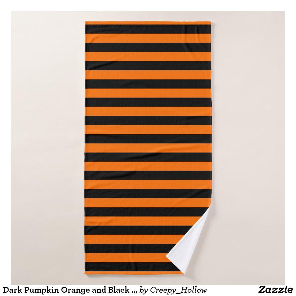 dark pumpkin orange and black horizontal witch str bath towel shower curtains beach towels bath towels bath mats bath design shower home