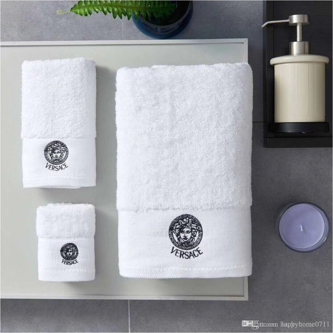 luxury bath towels designer fashion embroidered brand square towel beach towel and bath towel cotton fabric soft comfortable best bathroom towels cotton