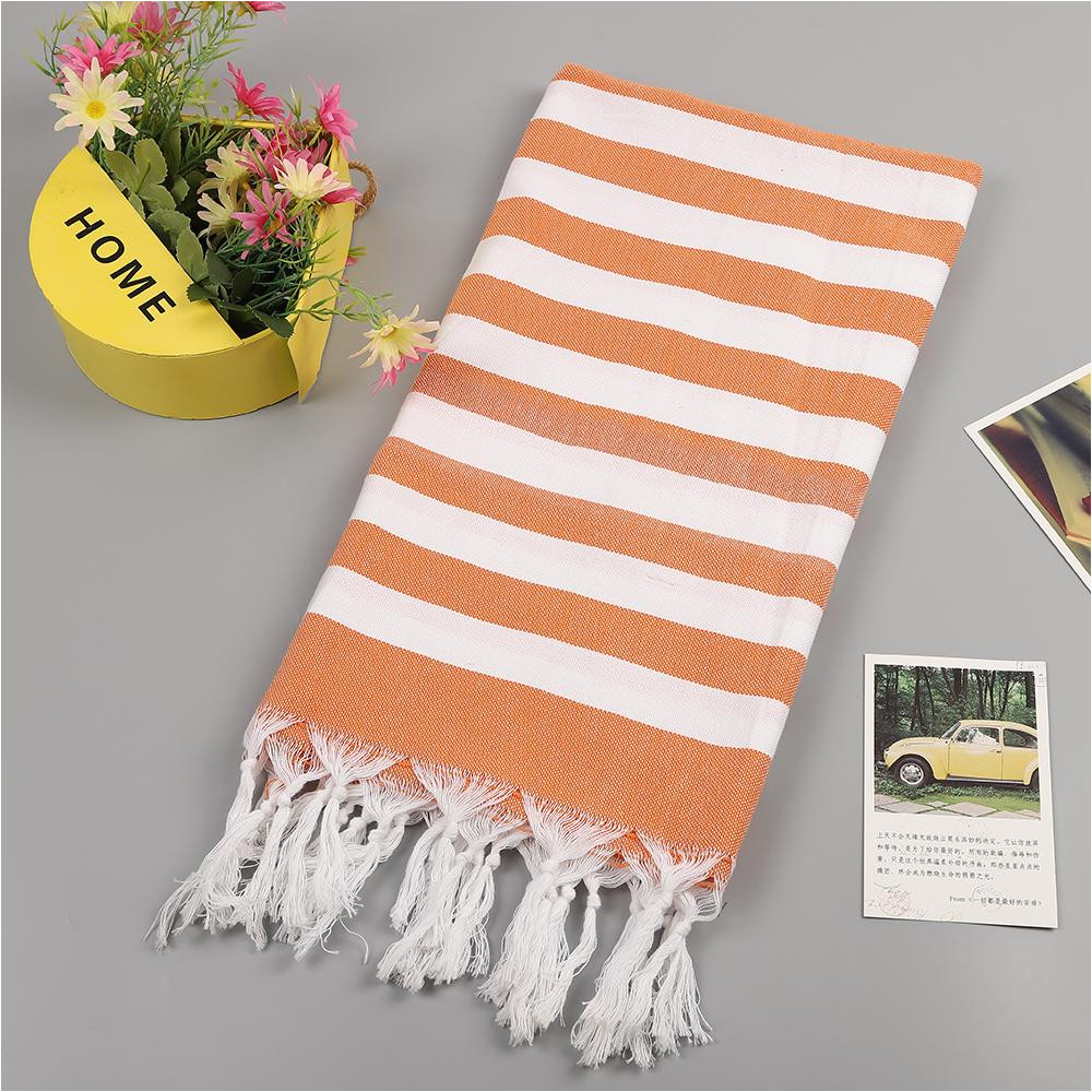 turkish beach towels 100 cotton stripes thin bath towel travel camping shawl sunscreen tassel tapestry 100 180 cm large towels small bath towels from