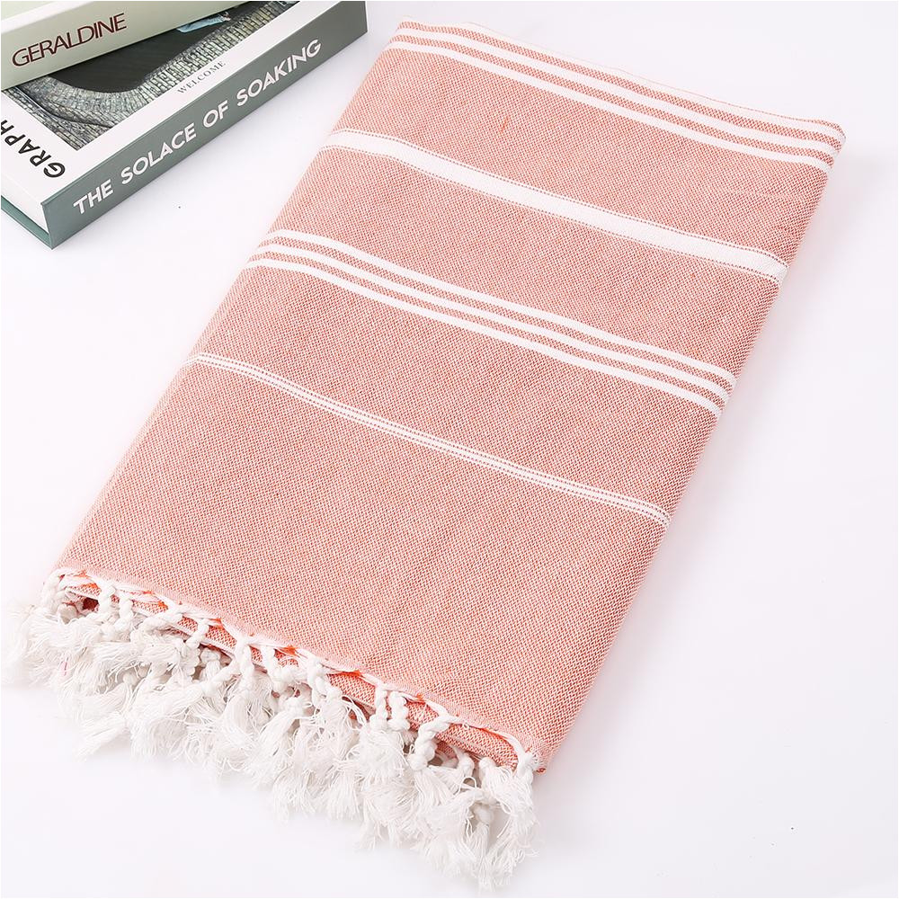 turkish beach towels 100 cotton stripes thin bath towel travel camping shawl sunscreen tassel tapestry 100 180 cm online with 26 15 piece on
