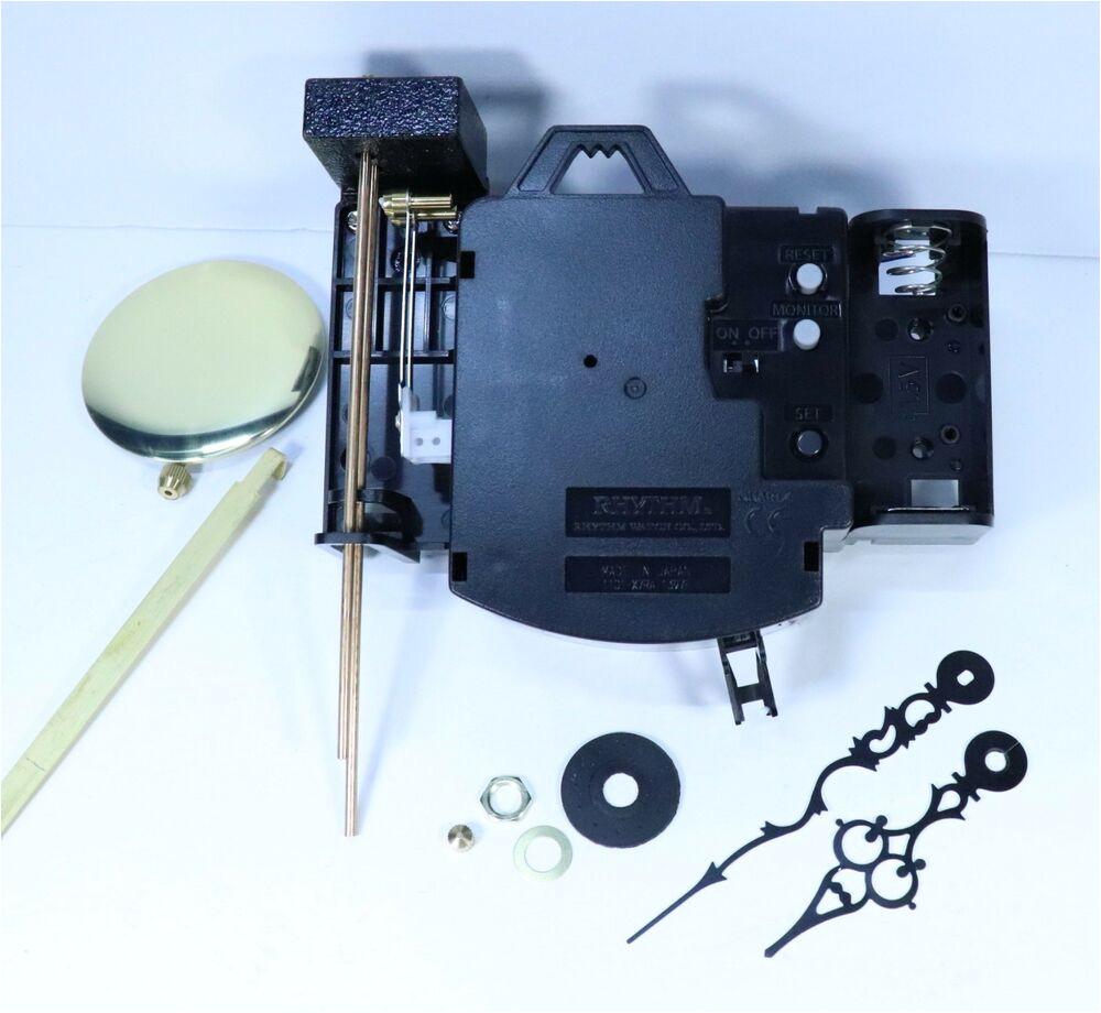 quartz bim bam strike pendulum clock movement kit with chime rods and pendulum ebay