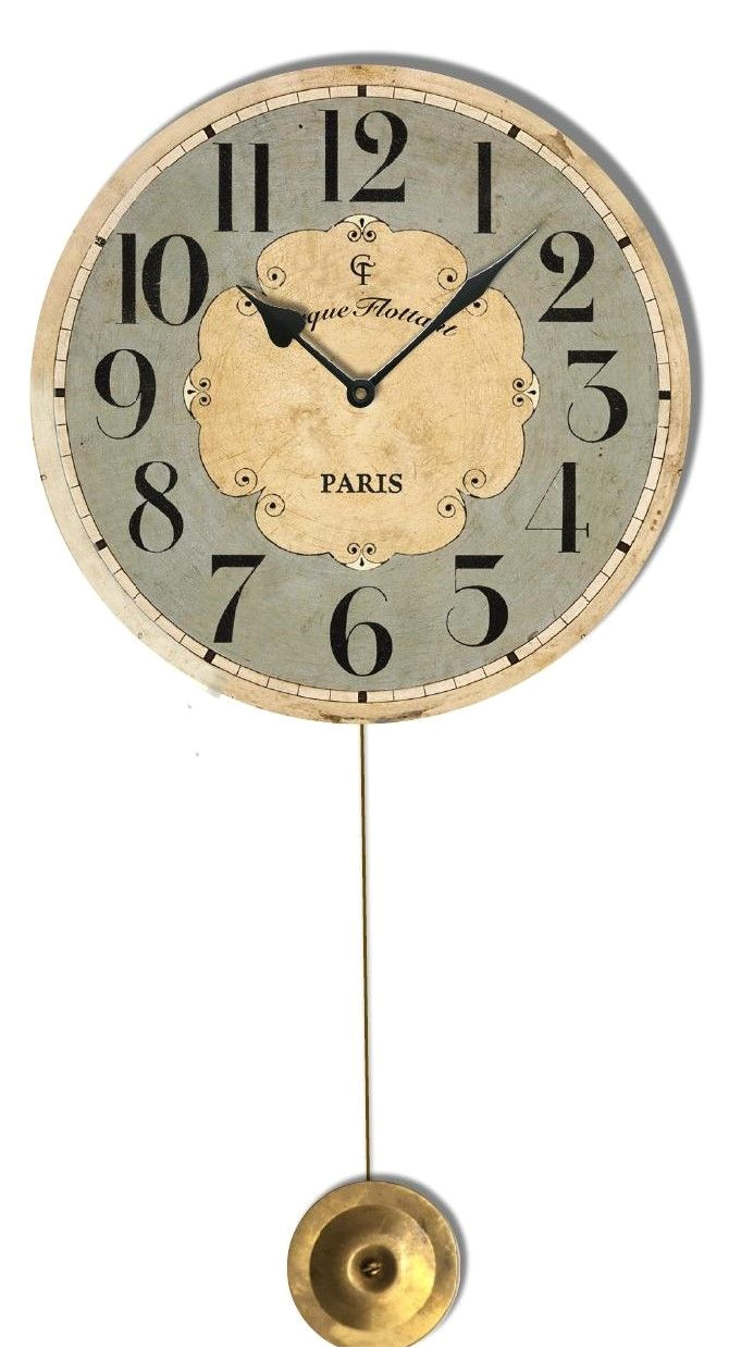 what a charming pendulum clock made with a glass lens it work as a great accent piece in a kids room kitchen or bath love it
