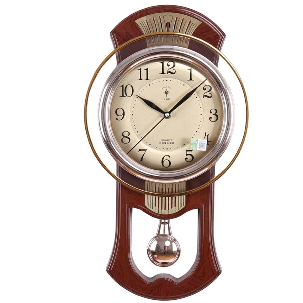 amazon com modern wall clock living room mute pendulum clock retro 20 inch color d home kitchen