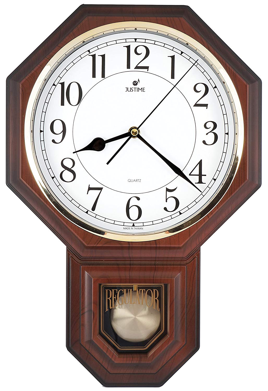 Battery Operated Clock Works with A Pendulum Amazon Com Traditional Schoolhouse Easy to Read Pendulum Plastic