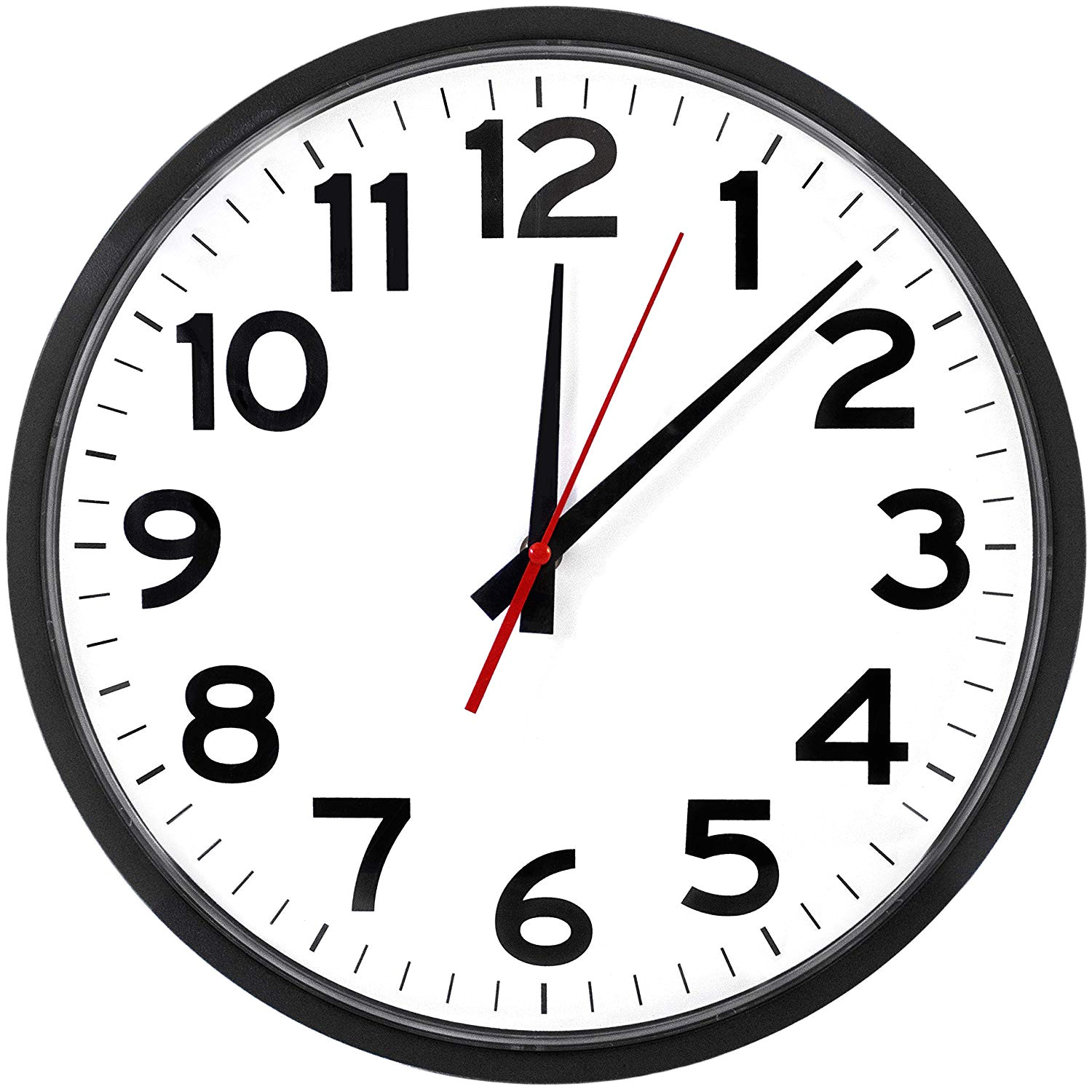 amazon com the ultimate wall clock atomic wall clock large silent analog battery operated easy to read home kitchen