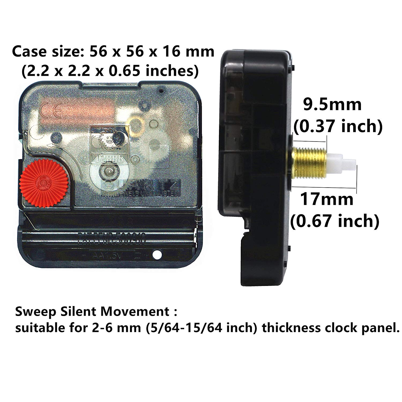 diy wall clock movement mechanism battery operated repair parts replacement