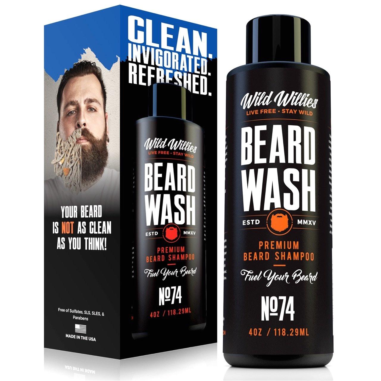 wild willies beard wash shampoo the perfect all natural way to keep your beard