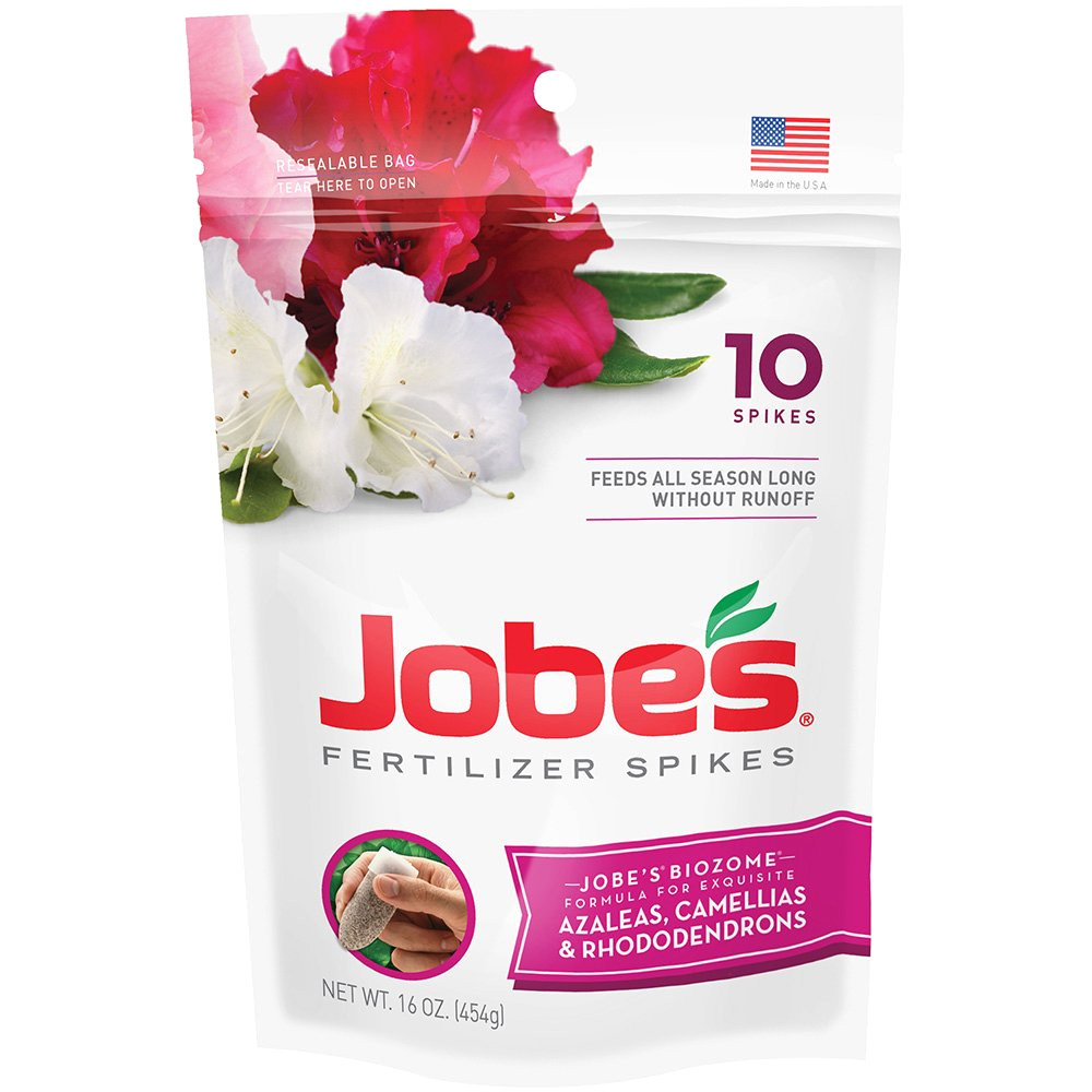 amazon com jobe s fertilizer spikes for azalea camellia and rhododendron 9 8 7 time release fertilizer for acid loving plants 10 spikes per package